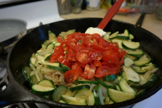 Tomatoes added to Zucchini