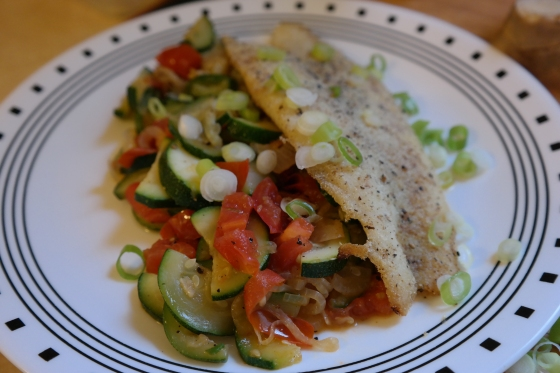 Fish and Zucchini Dinner